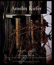2000 Anselm Kiefer art NYC gallery show vintage print ad