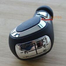 Chrome Leather MT Gear Shift Knob Fit Peugeot 106 206 207 307 407 508
