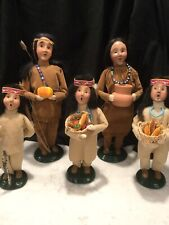 Byers Choice Carolers Family Of 5 Native American Indian's