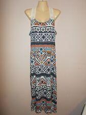 Love Womens Size XL Multi-Color Fair Isle Pattern Stretch Knit Racerback Dress