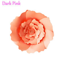 20/30cm DIY Paper Flowers Backdrop Decor Kid Birthday Party Wedding Favor Dark Pink 2pcs-20cm
