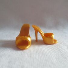 NEW Barbie Dylan's Candy Bar Doll Gold High Heel Slides ~ Model Muse Shoes