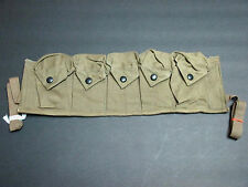 POST WWII ERA 1948 MILITARY AMMO/GEAR 5 POUCH STRAP SLING
