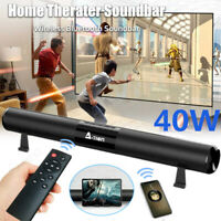 A-TION 40W Wireless Bluetooth 5.0 Sound Bar Speaker Home Theater Soundbar 2000mA