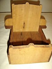 Antique Hand Made Child's Doll Furniture Tall Headboard Bed.9790