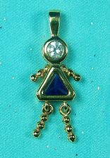 Vintage Sterling Silver Birthstone Baby Girl Charm