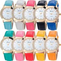 Women Diamond Watch Leather Stainless Classic Analog Quartz Ladies Wrist Watches
