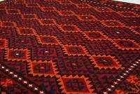 9'11 x 7'7 Red Antique Handmade Afghan Wool Kilim Area Rug Carpet Kelim #6570