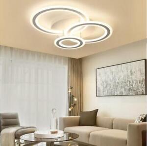 Modern 3 Rings LED Dimmable Ceiling Light Flush Mount Fixture Bedroom Home Decor