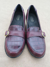 Clarks Bendables Brown Leather Slip On Shoes Women's 6.5  M