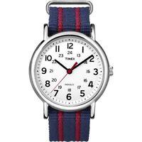 "Timex T2N747, Men's ""Weekender"" Blue Strap Fabric Watch, Indiglo, T2N7479J"