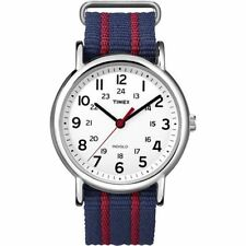 "Timex T2N747, Men's ""Weekender"" Blue Strap Fabric Watch, Indiglo"