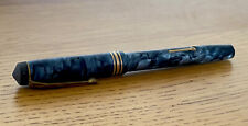 The Conway Stewart 388, Blue Marble Patterned Fountain Pen With 14k Gold Nib