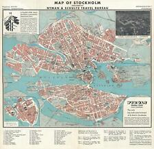 1935 Nyman and Schultz City Map or Plan of Stockholm, Sweden