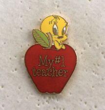 Cartoon - TWEETY PIE - WB Enamel METAL PIN BADGE Pins 1993 - My # 1 Teacher