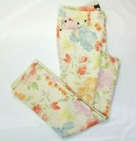 Ralph Lauren LRL Jeans Floral Print Modern Straight Ankle Pant Size 10 B154