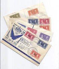 1937 1938 Royal Coronation FDC Lot of 4 Registered - Cook Islands, Seychelles*