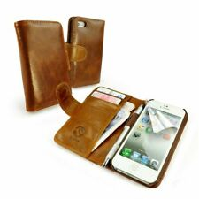 TUFF LUV Vintage Leather Wallet-Style Case Cover compatible with iPhone 5/5S /SE
