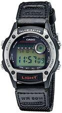 Casio W94HF-8AV, Digital Chronograph Watch, Black Nylon Band, Stopwatch, Alarm