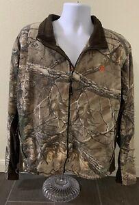 Game Winner Full Zip Fleece Basic Jacket Hunting Realtree Camouflage Men Size XL
