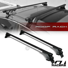 "UNIVERSAL 50"" BLK SQUARE WINDOW FRAME ROOF TOP RACK TUBE CROSS BARS CARRIER G02"
