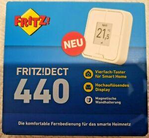 AVM FRITZ!DECT 440 Smart Home Fernbedienung Temperaturgeber für Heizungsregler,5