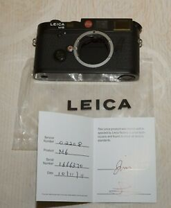 LEICA M6 35mm Rangefinder Black Body Only -- Mint - condition Leica USA serviced