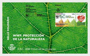 Spain 2020 WWF Protection of Nature FDC Unique Textured Unique Unusual