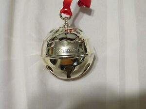 Reed & Barton Holly Bell 2018 Silver Plated Christmas Ornament