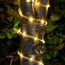 Solar Rope Lights in Warm White with 100 LED's Garden Lighting