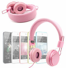Premium Kids Headphones in Pink For Apple iPod Classic, Nano, Shuffle and Touch
