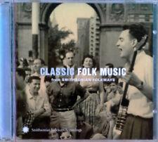 CLASSIC FOLK MUSIC - SMITHSONIAN FOLKWAYS - 25 TRACKS - SEALED CD