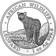 Somalia 100 Shilling 2018 Leopard Silbermünze prägefrisch