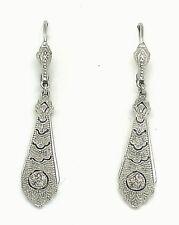 Brilliant Earrings Diamonds 925er Silver Art Deco