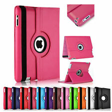 Leather 360 Degree Rotating Smart Flip Stand Case Cover For Apple iPad All Model
