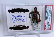2017-18 Panini Flawless Basketball Julius Erving Auto PSA Authentic 15/15