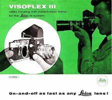 1967 Leica Visoflex Iii Reflex Housing Brochure -for Leica M System Cameras