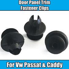 10x Clips For VW Passat Trim Panel Fixings Fastener Clips Black Plastic