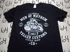 Large- Men Of Mayhem Cycle Shop California Shirt Punch Gildan Brand T- Shirt