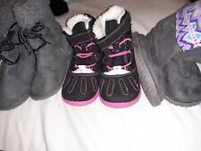 Girl Toddler Boots Size 5 three pairs Carter