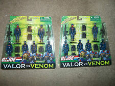YOU will rule! GI Joe Valor Venom x2 Cobra Infantry Forces 6 Pack 2004 FREE shp!