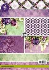 Craft Emotions - Paperstack A5 - Purple Holidays - 32 Sheets