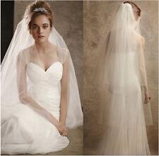 White 2 Layer Fingertip Length Bridal Veil (Sparkle-2533-W)