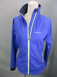 COLUMBIA SIZE S WOMENS PURPLE FULL ZIP THERMAL WINDSTOPPER TRACK JACKET T774