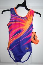 GK Elite Gymnastics Leotard - Child Medium - Purple Sunset