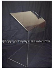 Budget Clear Perspex Acrylic Sneeze Guard/Security Screen - Small - 500mm Wide