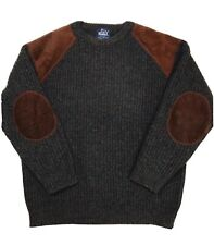 Vintage Woolrich Mens Commando Heavy Knit Wool Sweater Size Medium Colored Gray