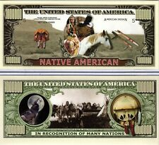 Native American Million Dollar Novelty Money