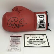 Autographed/Signed GEORGE FOREMAN Red Everlast Boxing Glove JSA COA Auto