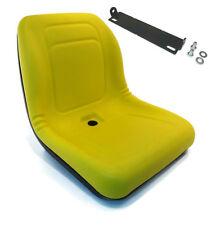 New Yellow HIGH BACK SEAT w/ Pivot Rod Bracket for John Deere 856 955 2210